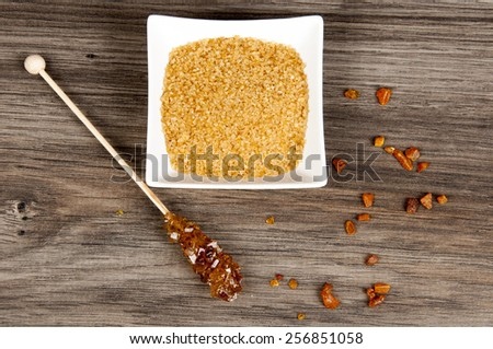 different kind of brown sugar - stock photo