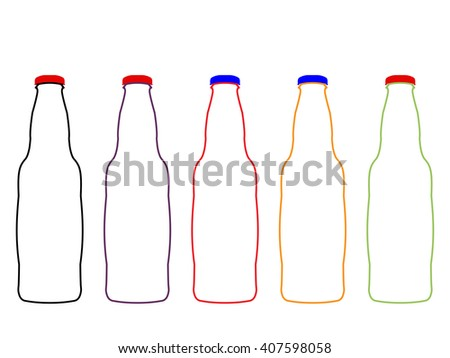 Different Kind of Soda Empty Bottles