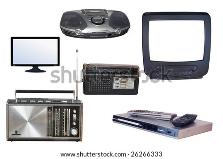 Different kinds of radio and TV devices