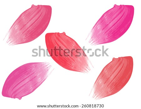 Different lip glosses isolated on white background - stock photo