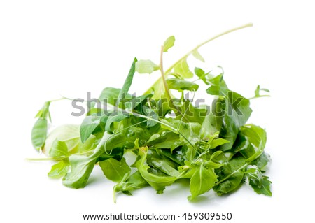 Different mix of fresh salad leaves.