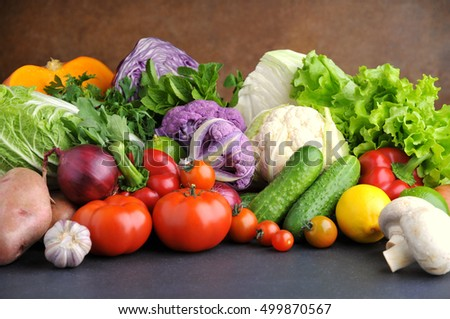 Different mix of fresh vegetables.