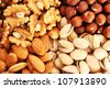 Different nuts as a background. - stock photo