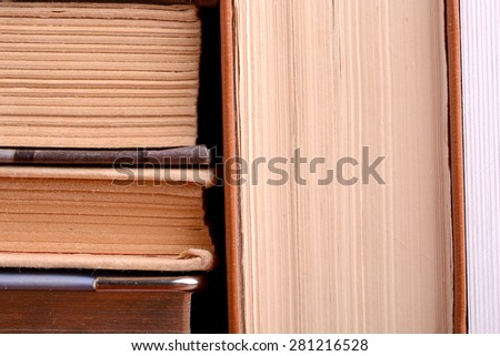 Different old books close-up  - stock photo