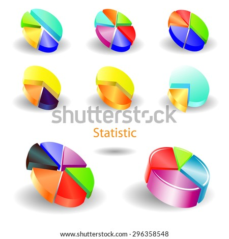 different pie charts - stock photo