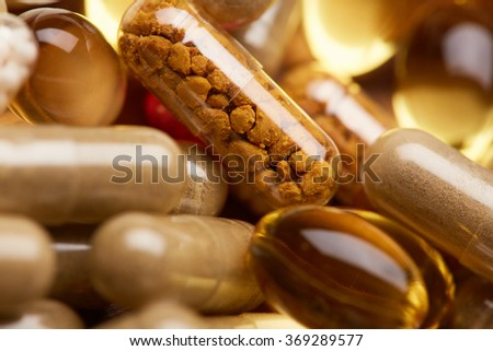 Different pills and supplements