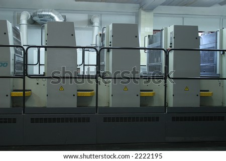 Different printed machines and polygraphing equipment