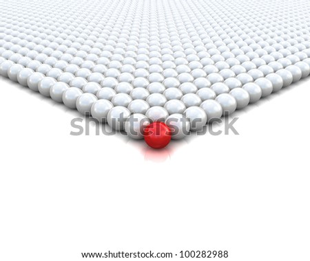 different red ball 3d render illustration