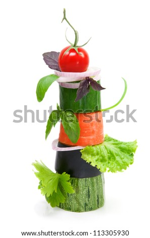Different sorts of vegetables,healthy food - stock photo