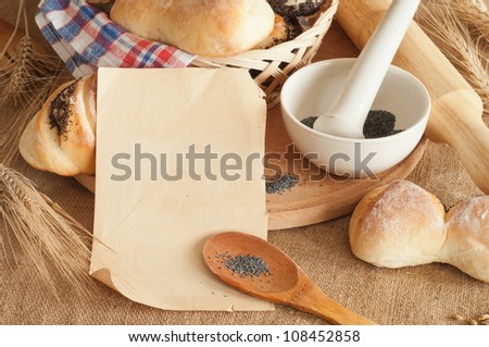 different sweet baking on a table - stock photo