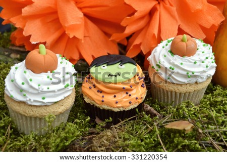 Different sweets for Halloween party - stock photo