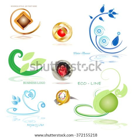 different symbols for business - stock photo