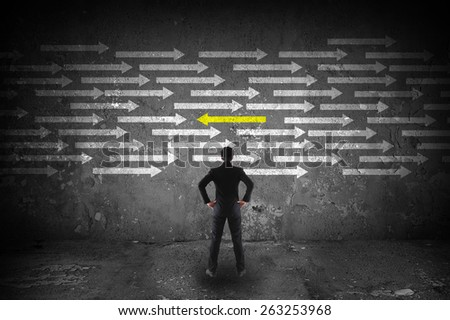 different thinking concept - stock photo