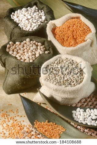 Different Type Of Pulses. - stock photo