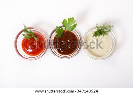 Different type of sauces - stock photo