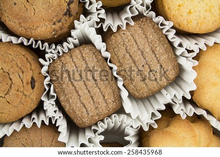 Different varieties of cookies