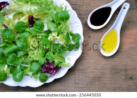 different varieties of lettuce  - stock photo