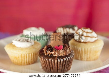 Different variety of Cup cakes - stock photo