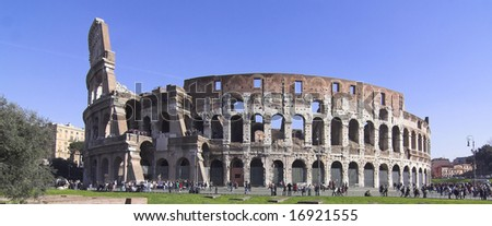 different view of colosseum - rome