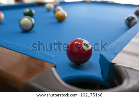 Different views of snooker - stock photo