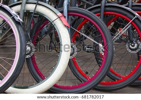 Different wheels bicycle