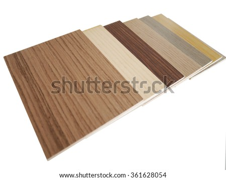 Different Wood grain and color on white background