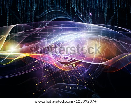 Differential Engine Series. Design composed of gears, numbers and fractal elements as a metaphor on the subject of computers, technology and mathematical science - stock photo