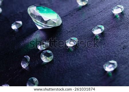 differernt diamonds - stock photo
