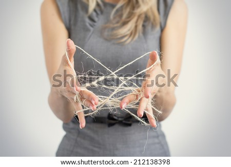 Difficulties in business concept - stock photo