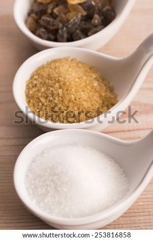 Difrent kind of sugar - stock photo