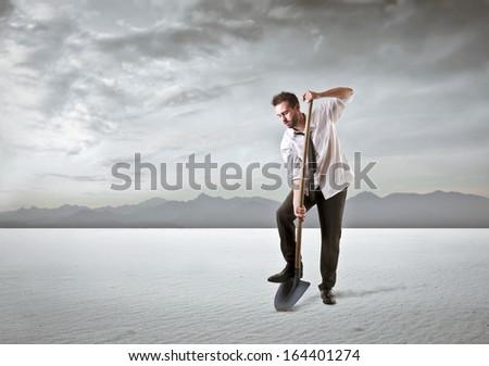 Digging - stock photo