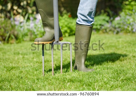 Digging fork - stock photo