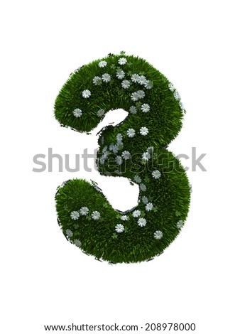 digit number 3 - stock photo