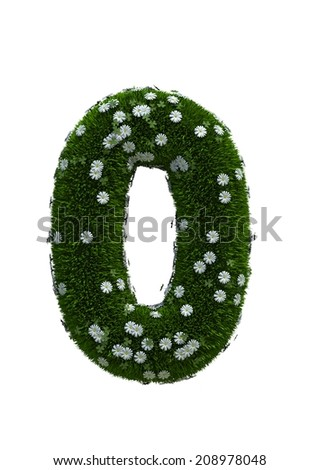 digit number 0 - stock photo