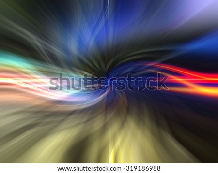 Digital abstract background in twirled form