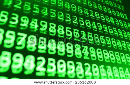 Digital abstract bits data stream, cyber pattern digital background. Green secure and friendly background.  - stock photo