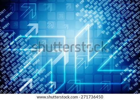 Digital Abstract business background - stock photo