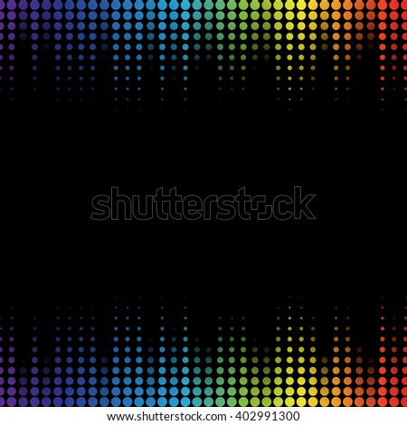 Digital abstract equalizer. Multicolored waveform background. Illustration - stock photo