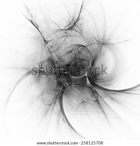 Digital abstract fractal background generated at computer in black and white. - stock photo