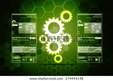 Digital Abstract technology background - stock photo