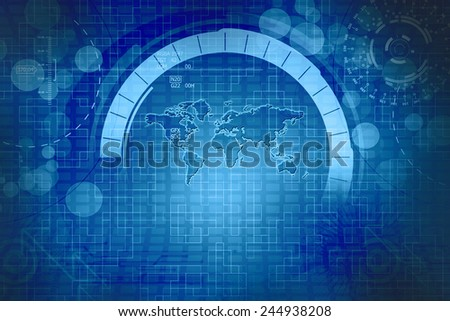Digital Abstract World Map Business Background