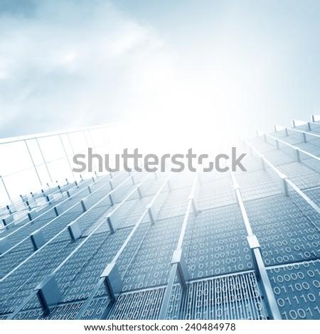 Digital Architecture  - stock photo