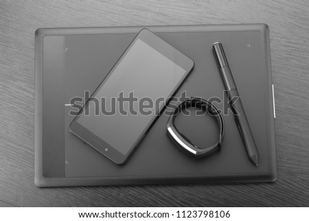 digital art board graphic tablet stylus stock photo edit now