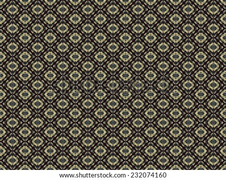 Digital art geometric abstract background pattern with circles motif in warm tones