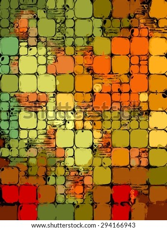 Digital Art Painting Illustration Abstract Square Stock Illustration ...