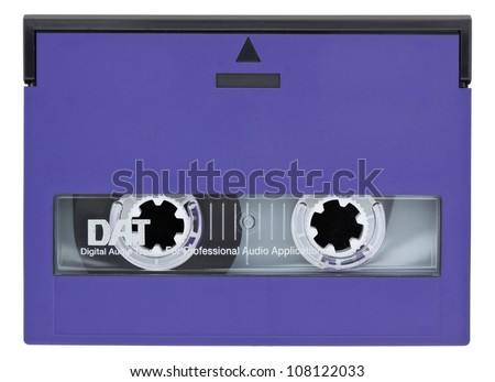 Digital Audio Tape Isolated on white background with Clipping Path