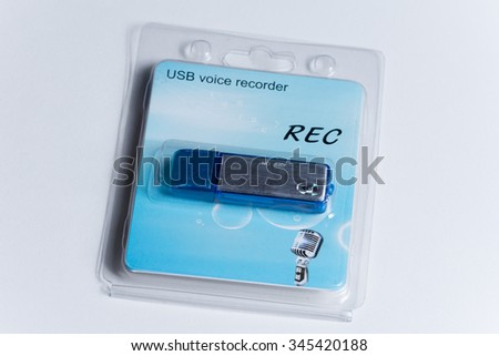 Digital audio voice recorder package.