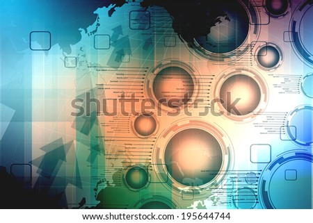 Digital background blue and black colors of the fast movements. Conceptual world of global communication - stock photo