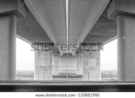 Digital background for studio photographers. Bridge from below. - stock photo