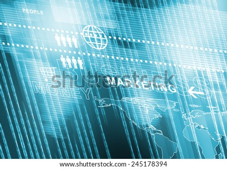 Digital background image presenting modern business concepts